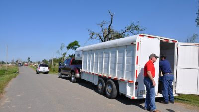 Nabholz employees delivering supplies after April 2014 tornado.