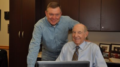 Chairman Emeritus Charlie Nabholz and Chairman Bill Hannah Thankful