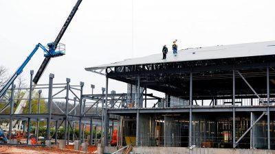 New School Topping Out Construction Progress Pictures Nabholz Northwest Arkansas K-12 Construction