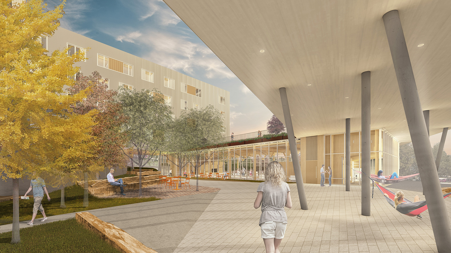 cross-laminated timber university of arkansas stadium drive residence halls nabholz construction college dorms northwest arkansas